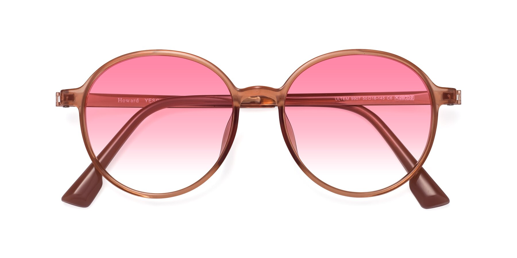 Folded Front of Howard in Coral with Pink Gradient Lenses
