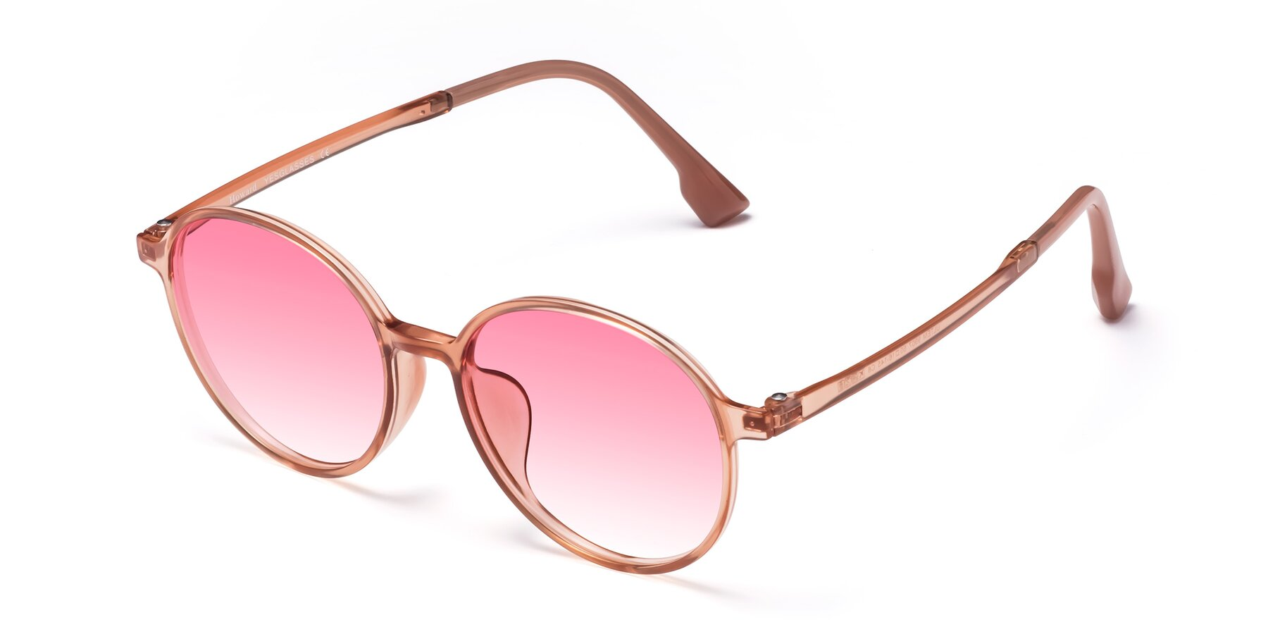 Angle of Howard in Coral with Pink Gradient Lenses