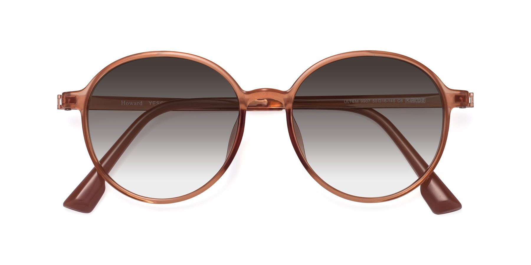Folded Front of Howard in Coral with Gray Gradient Lenses