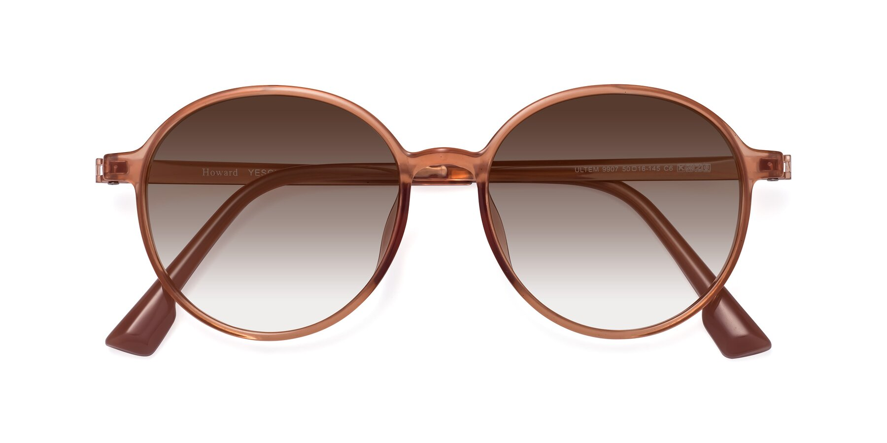 Folded Front of Howard in Coral with Brown Gradient Lenses