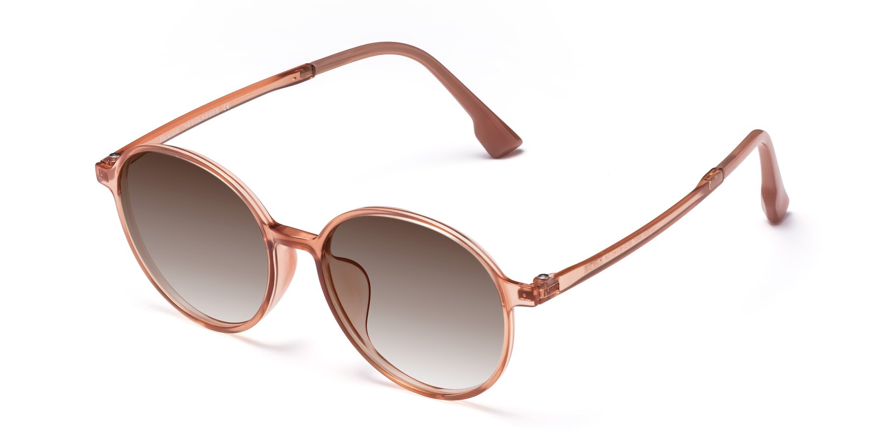 Angle of Howard in Coral with Brown Gradient Lenses