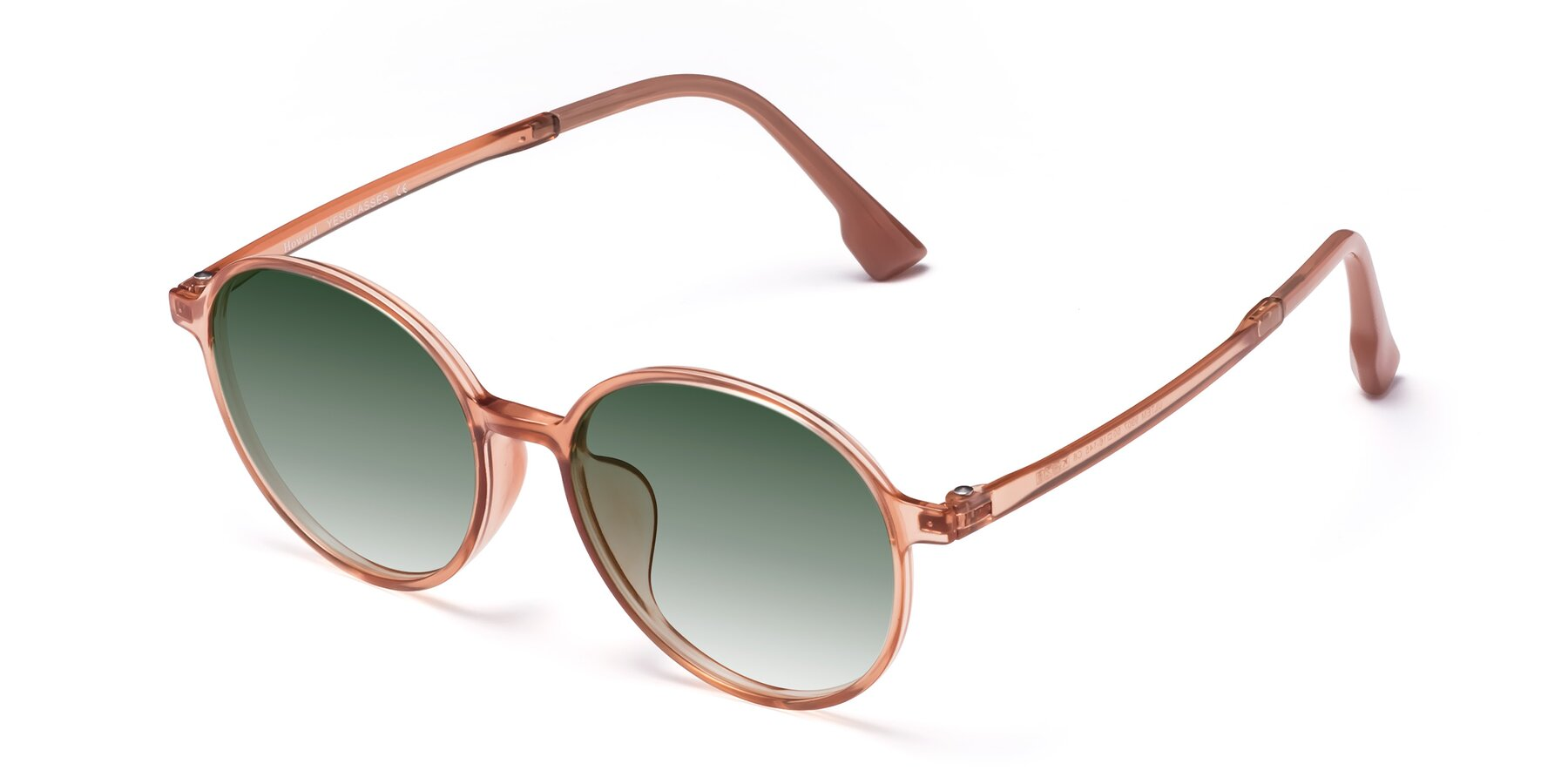Angle of Howard in Coral with Green Gradient Lenses