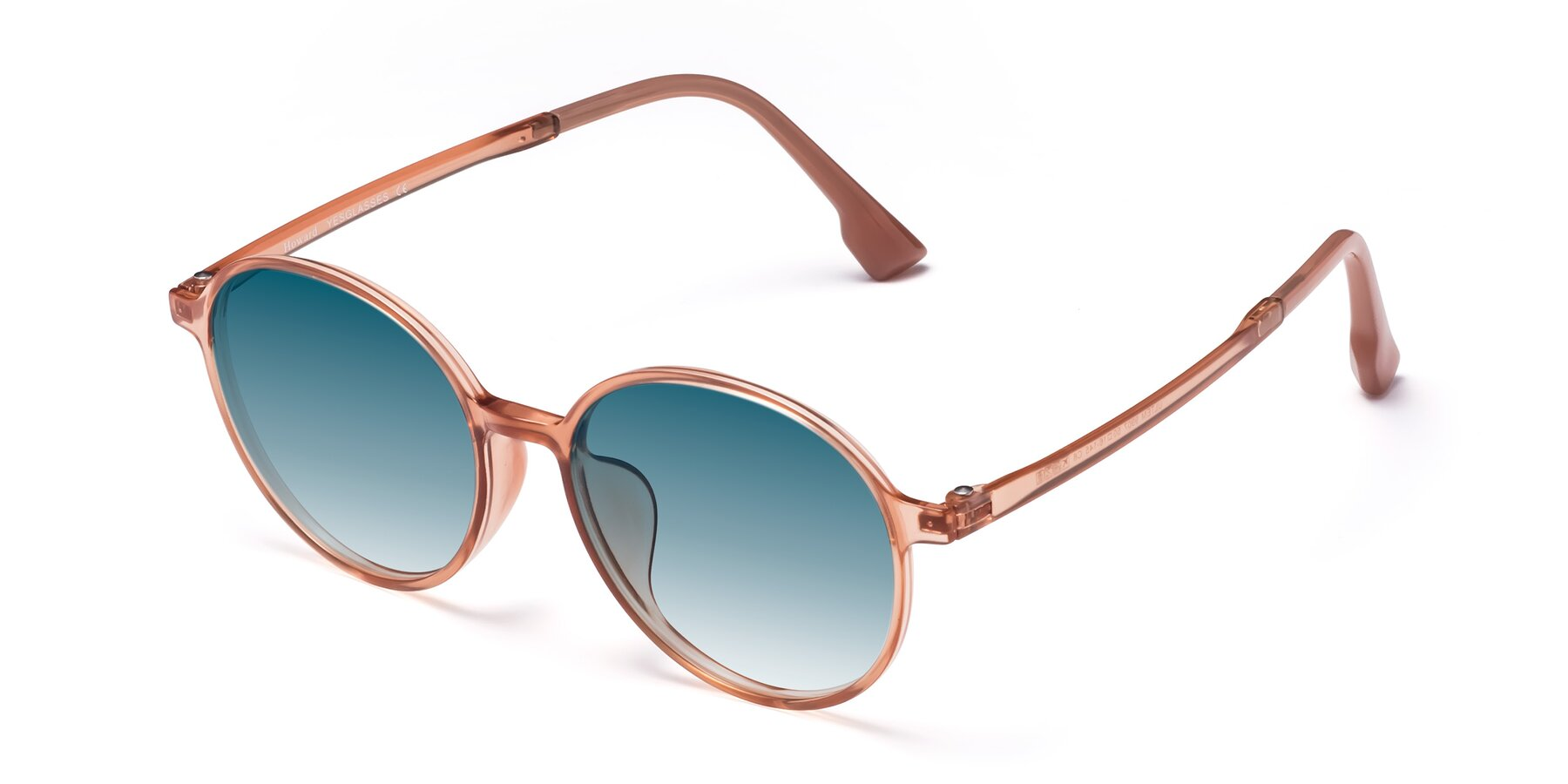 Angle of Howard in Coral with Blue Gradient Lenses