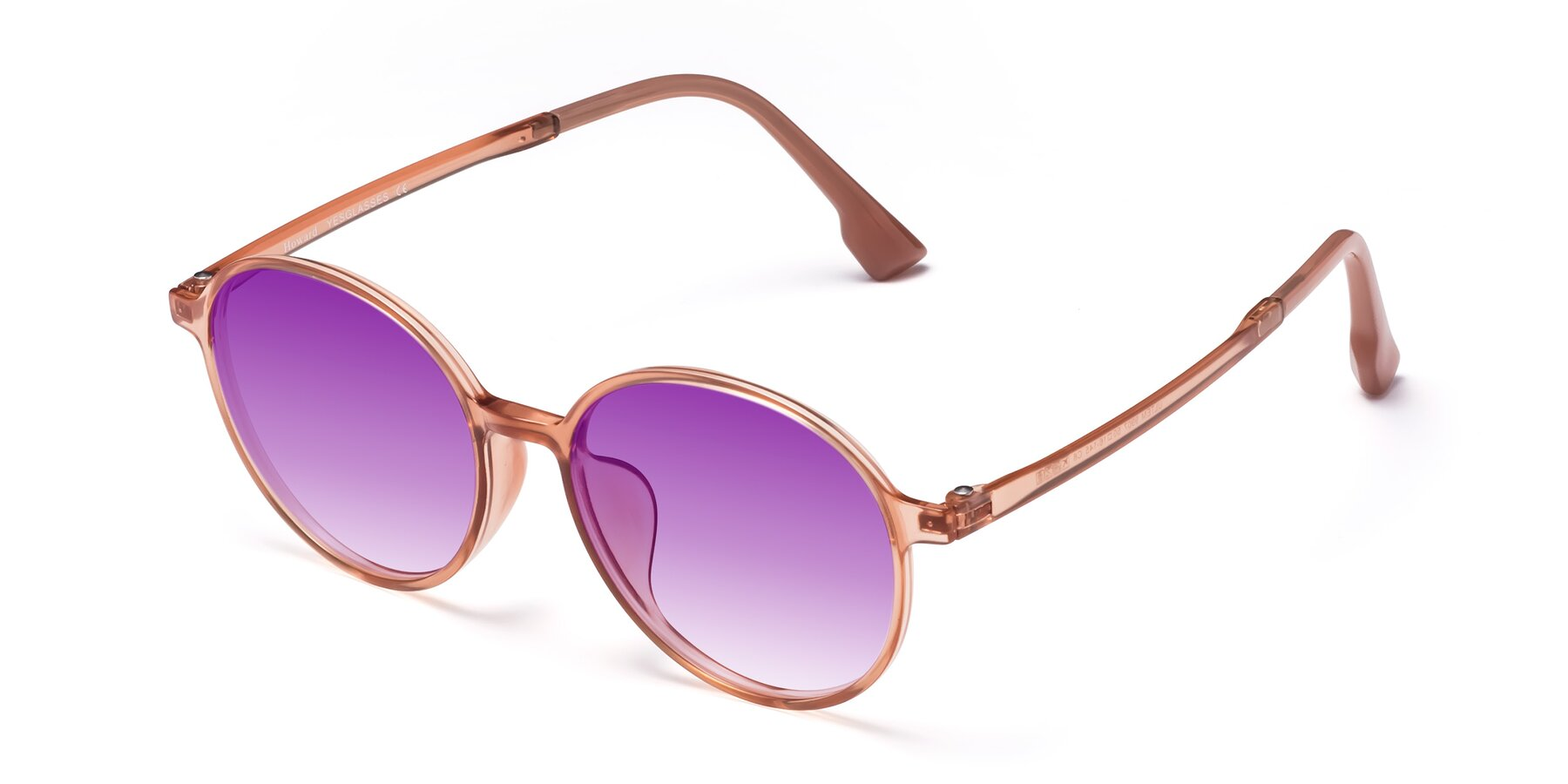 Angle of Howard in Coral with Purple Gradient Lenses