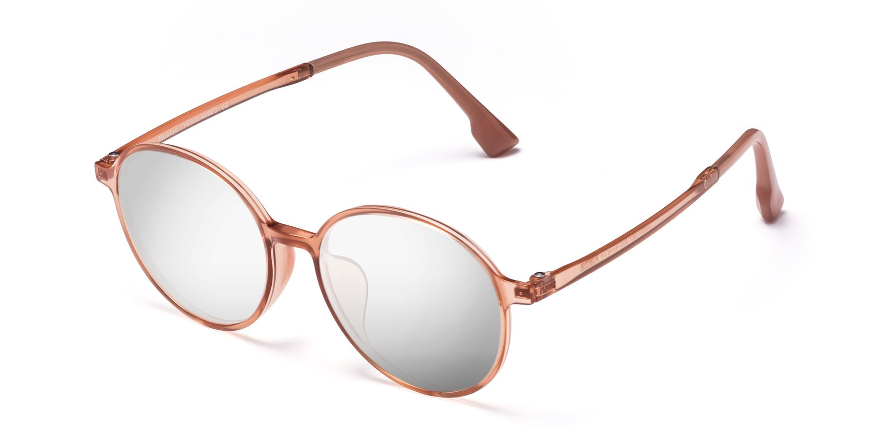 Angle of Howard in Coral with Silver Mirrored Lenses
