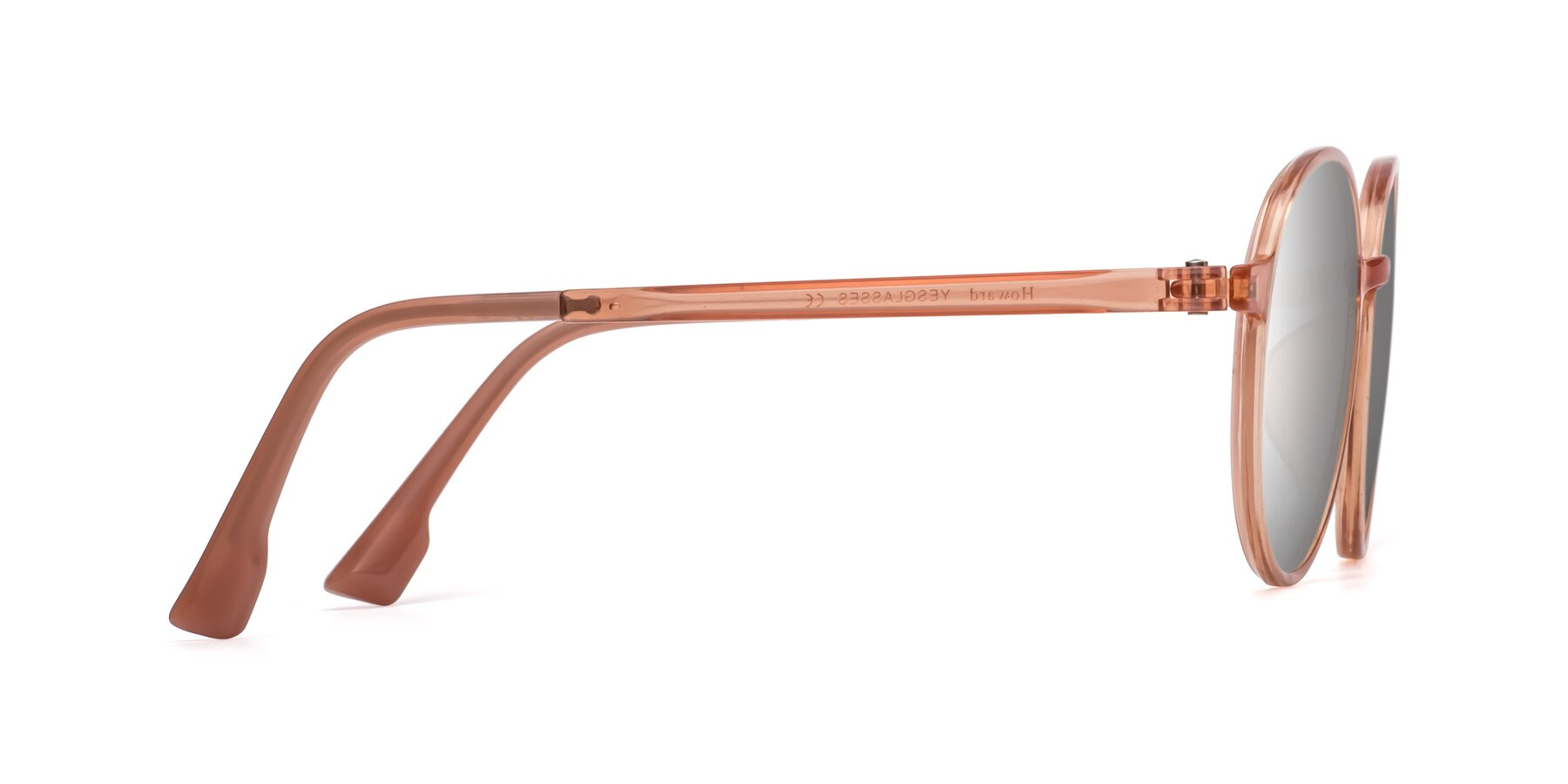 Side of Howard in Coral with Silver Mirrored Lenses
