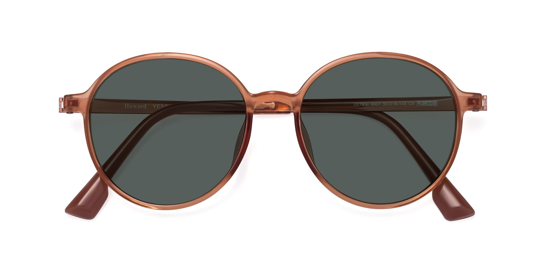 Folded Front of Howard in Coral with Gray Polarized Lenses