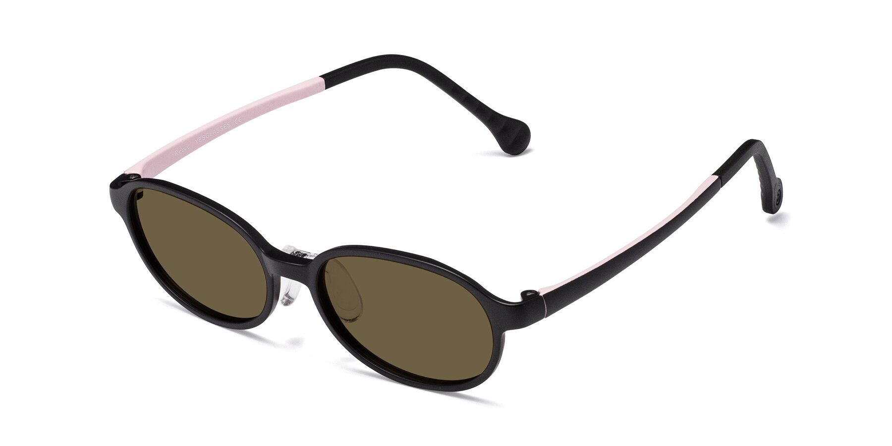 Angle of Reece in Black-Pink with Brown Polarized Lenses