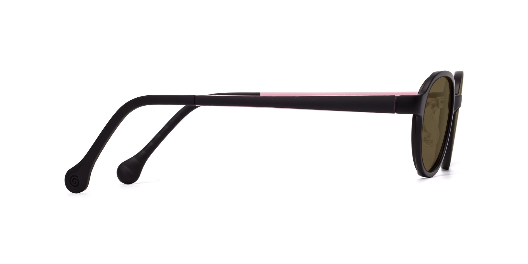 Side of Reece in Black-Pink with Brown Polarized Lenses