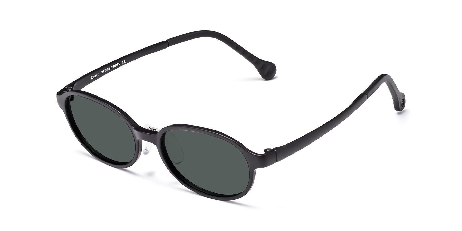 Angle of Reece in Matte Black with Gray Polarized Lenses