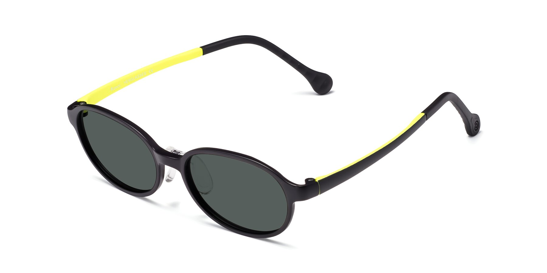 Angle of Reece in Black-New Leaf with Gray Polarized Lenses