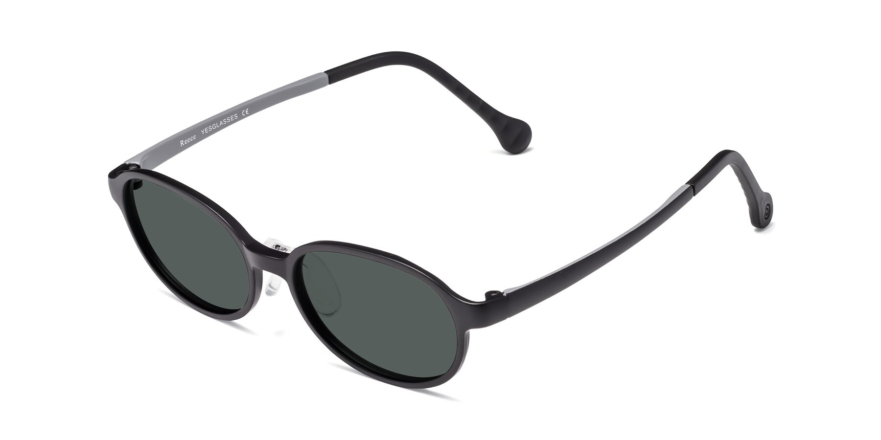 Angle of Reece in Black-Gray with Gray Polarized Lenses