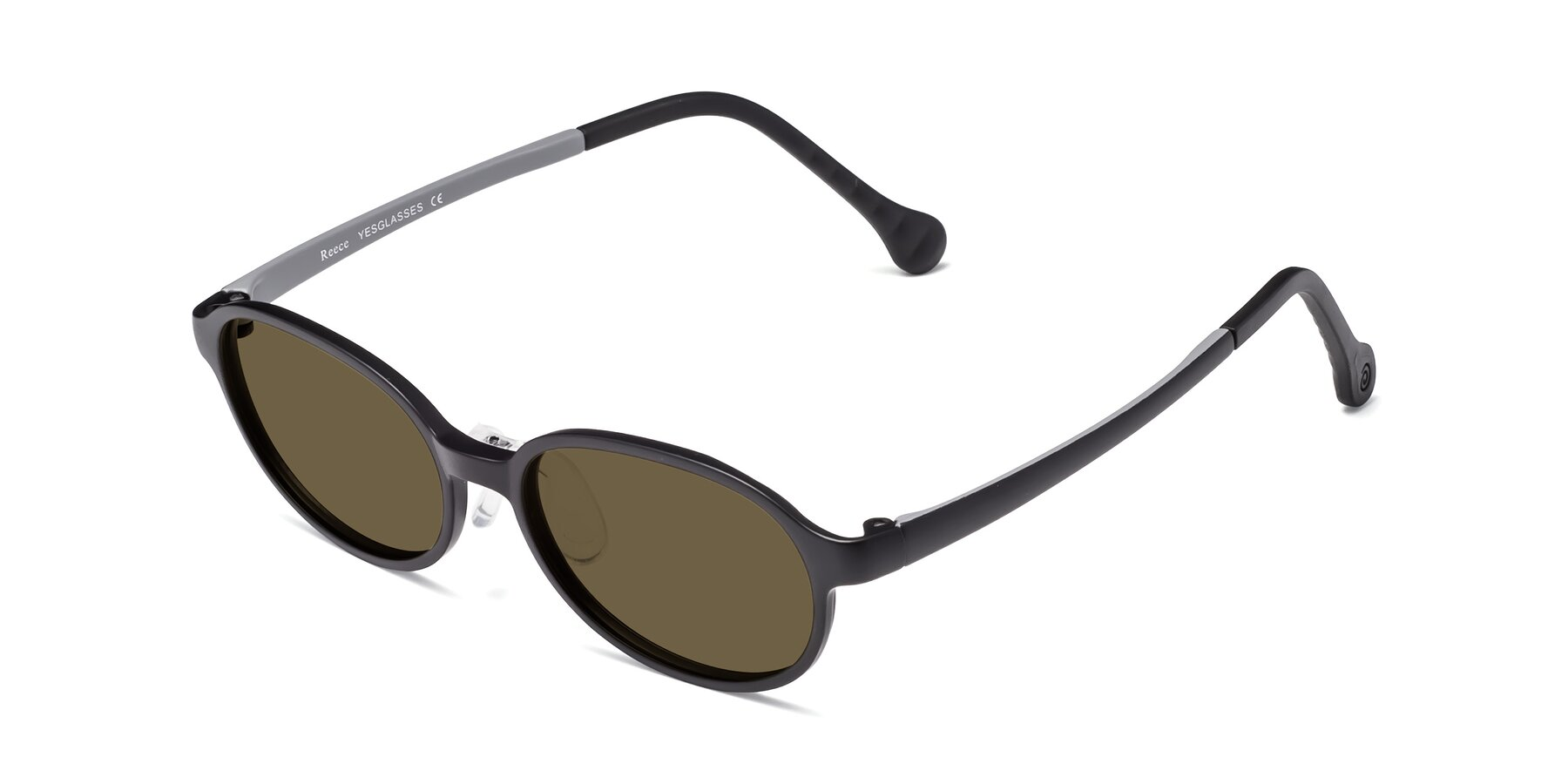 Angle of Reece in Black-Gray with Brown Polarized Lenses