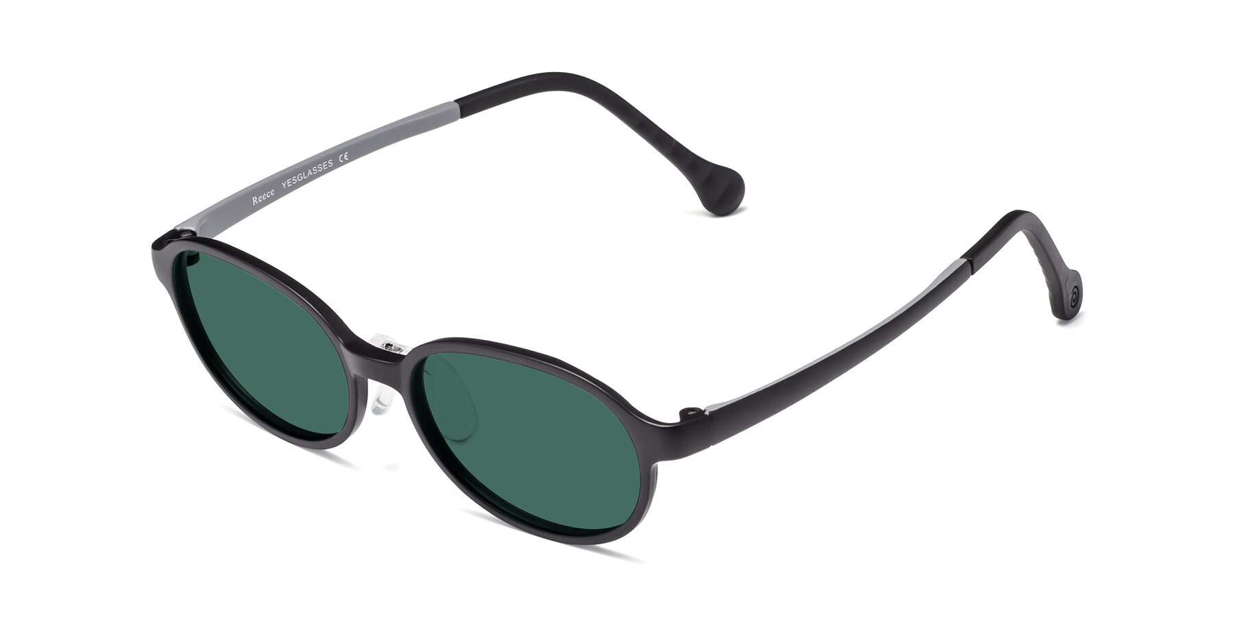 Angle of Reece in Black-Gray with Green Polarized Lenses