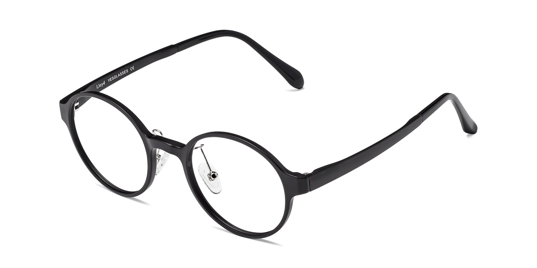 Angle of Lloyd in Matte Black with Clear Blue Light Blocking Lenses