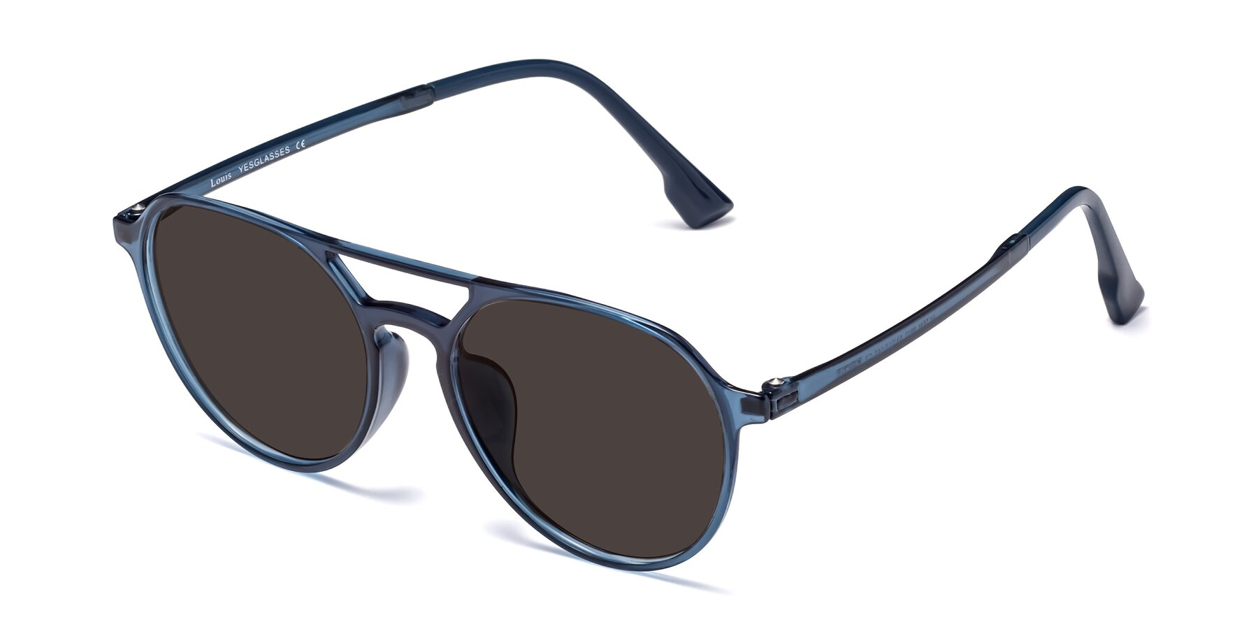Angle of Louis in Blue with Gray Tinted Lenses