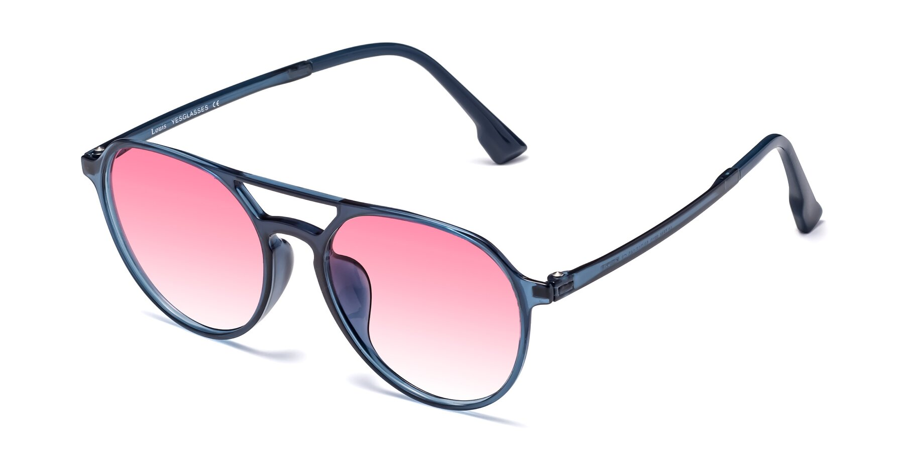 Angle of Louis in Blue with Pink Gradient Lenses