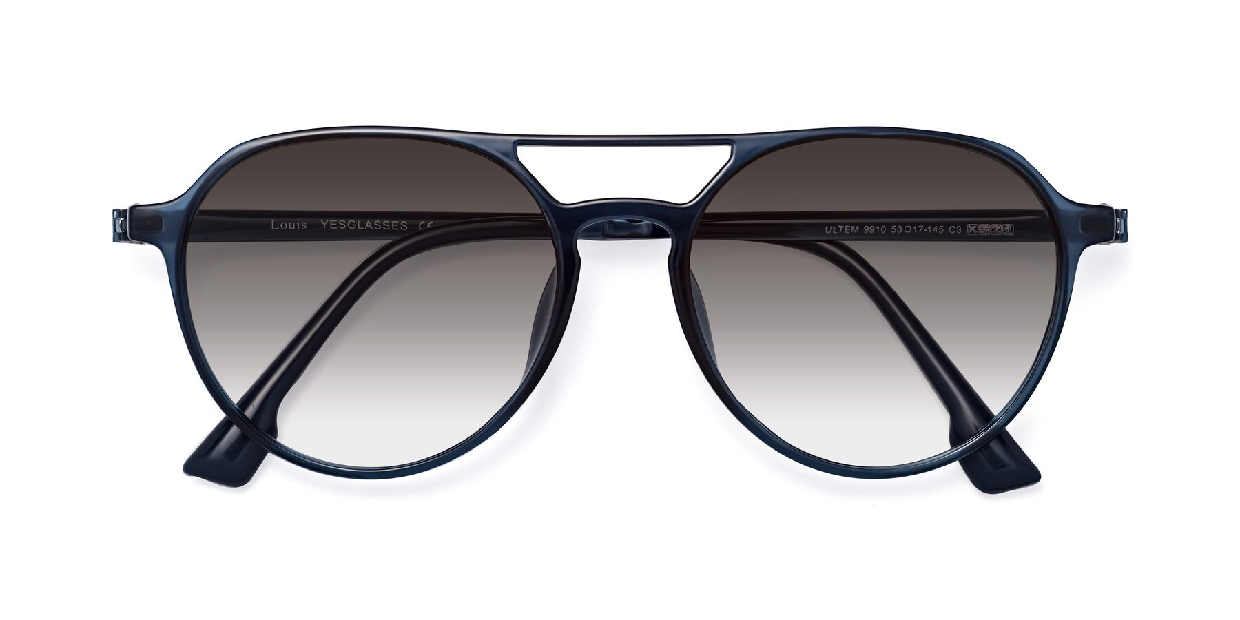 Folded Front of Louis in Blue with Gray Gradient Lenses