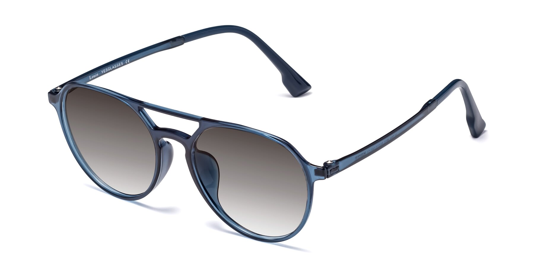Angle of Louis in Blue with Gray Gradient Lenses