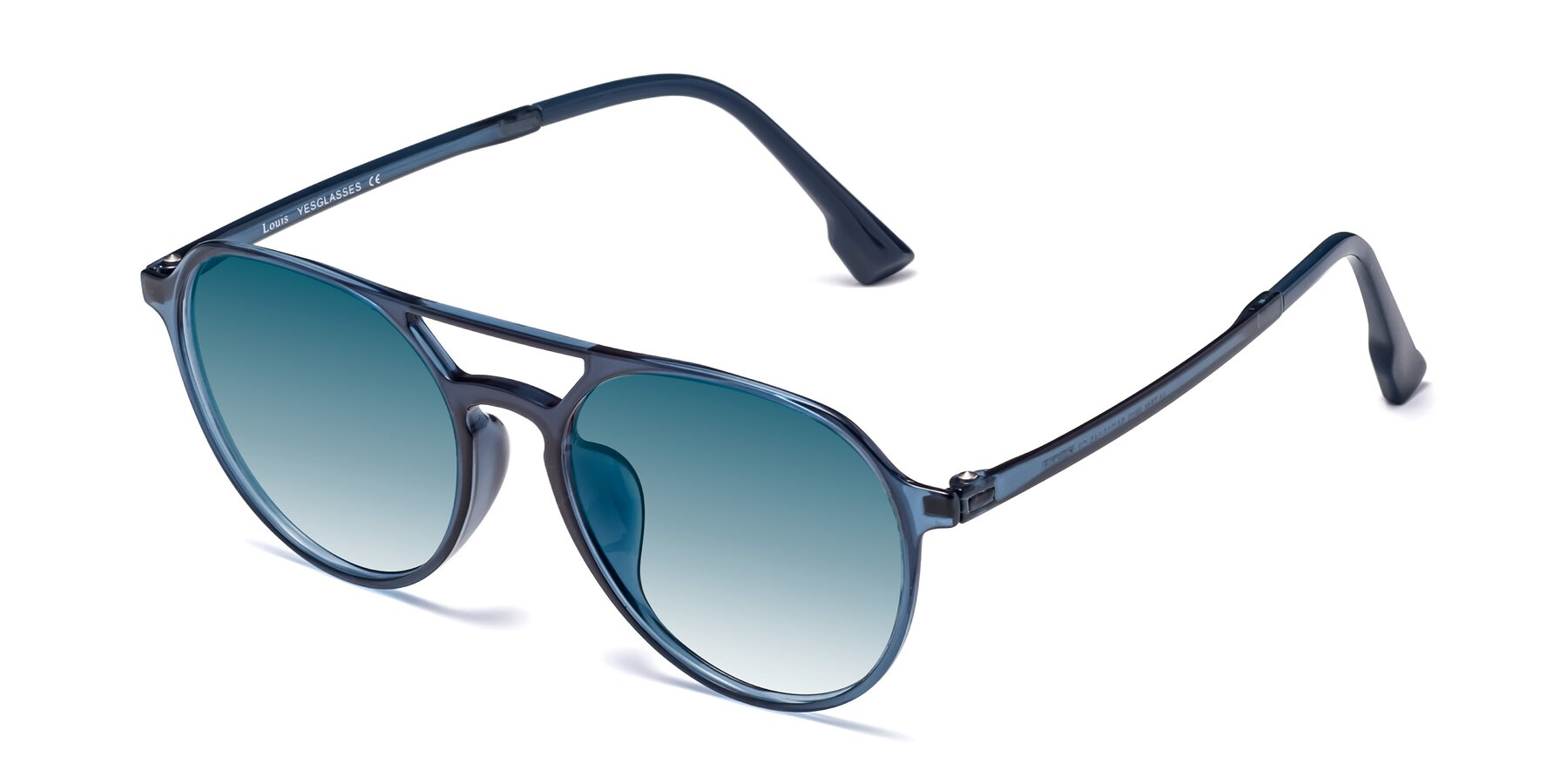 Angle of Louis in Blue with Blue Gradient Lenses