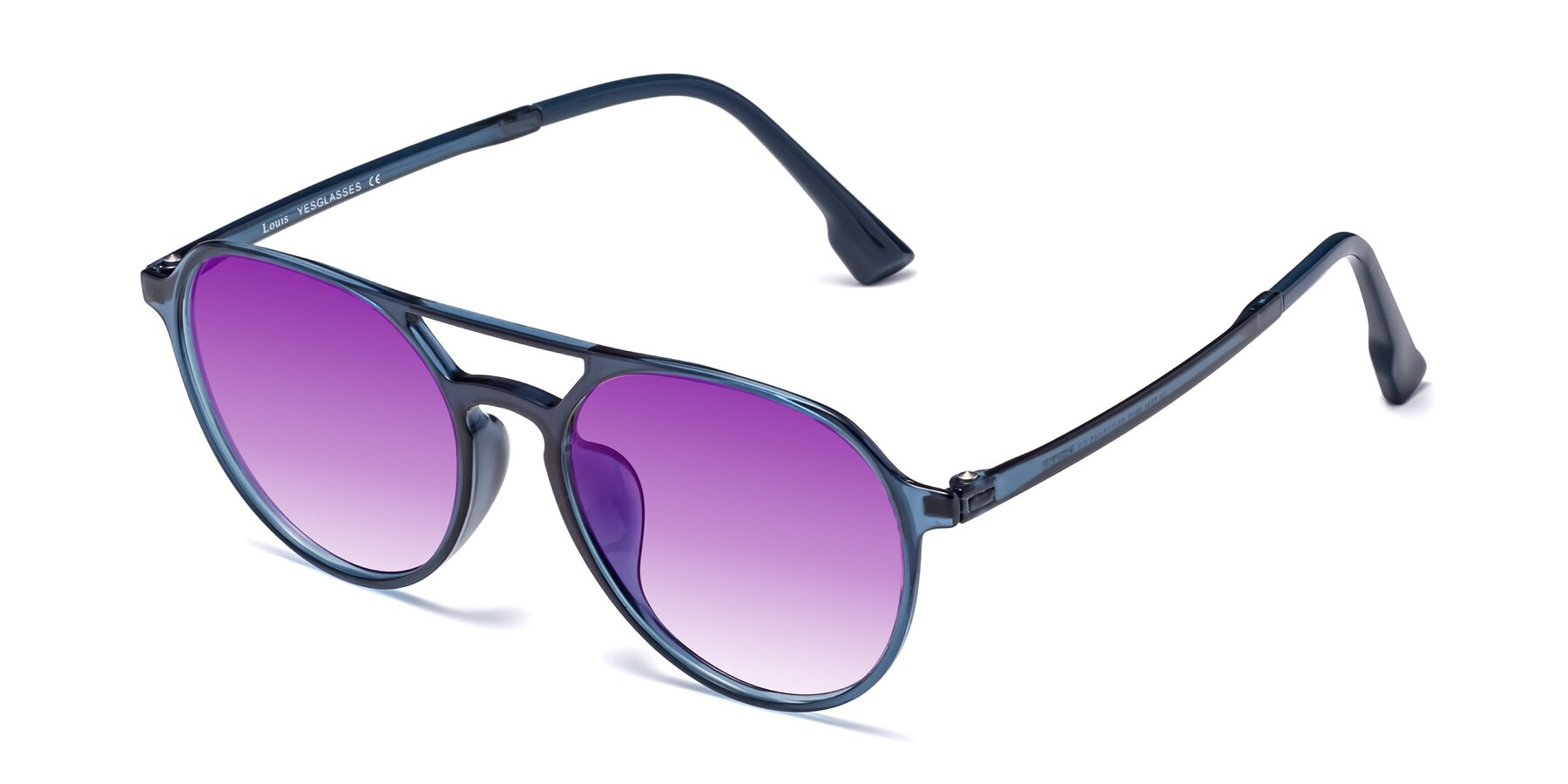 Angle of Louis in Blue with Purple Gradient Lenses