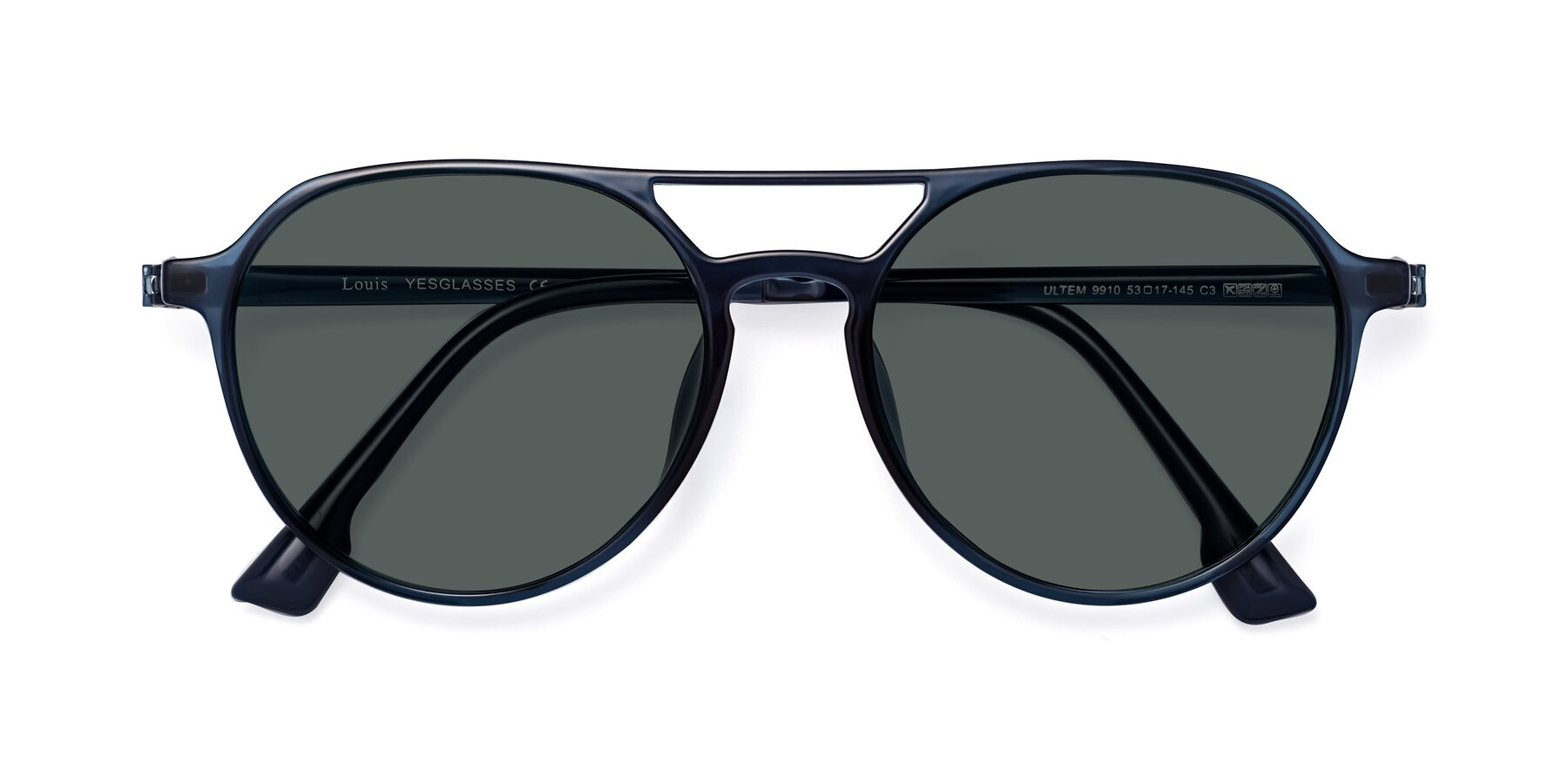 Folded Front of Louis in Blue with Gray Polarized Lenses