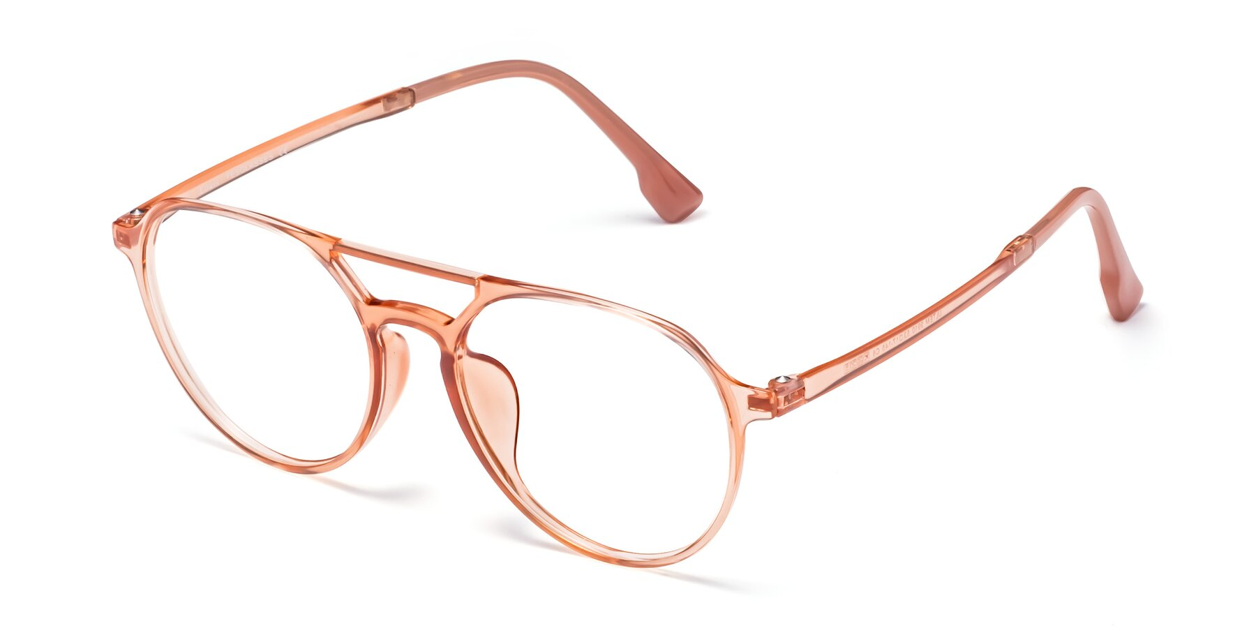 Angle of Louis in Coral with Clear Eyeglass Lenses