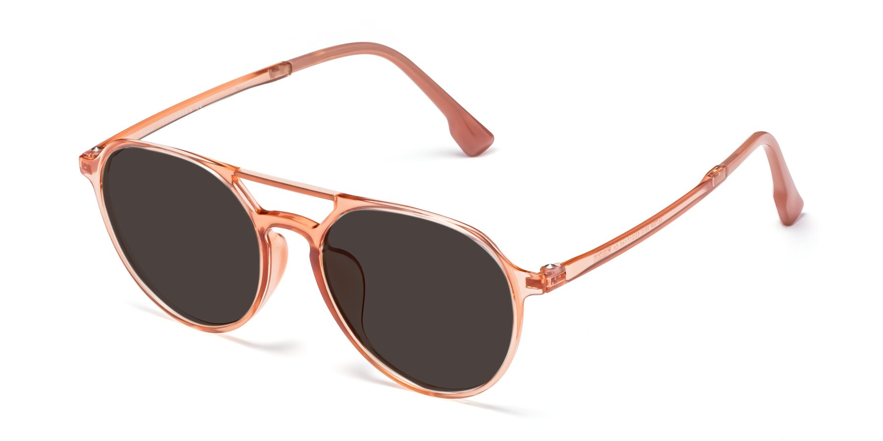 Angle of Louis in Coral with Gray Tinted Lenses