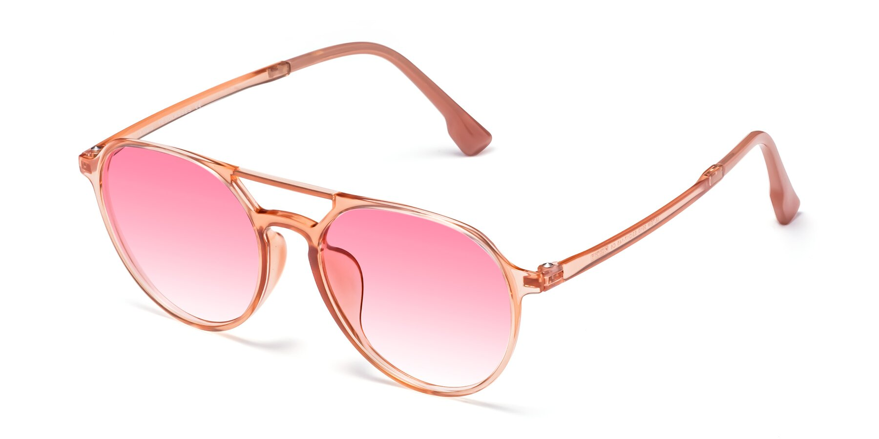Angle of Louis in Coral with Pink Gradient Lenses