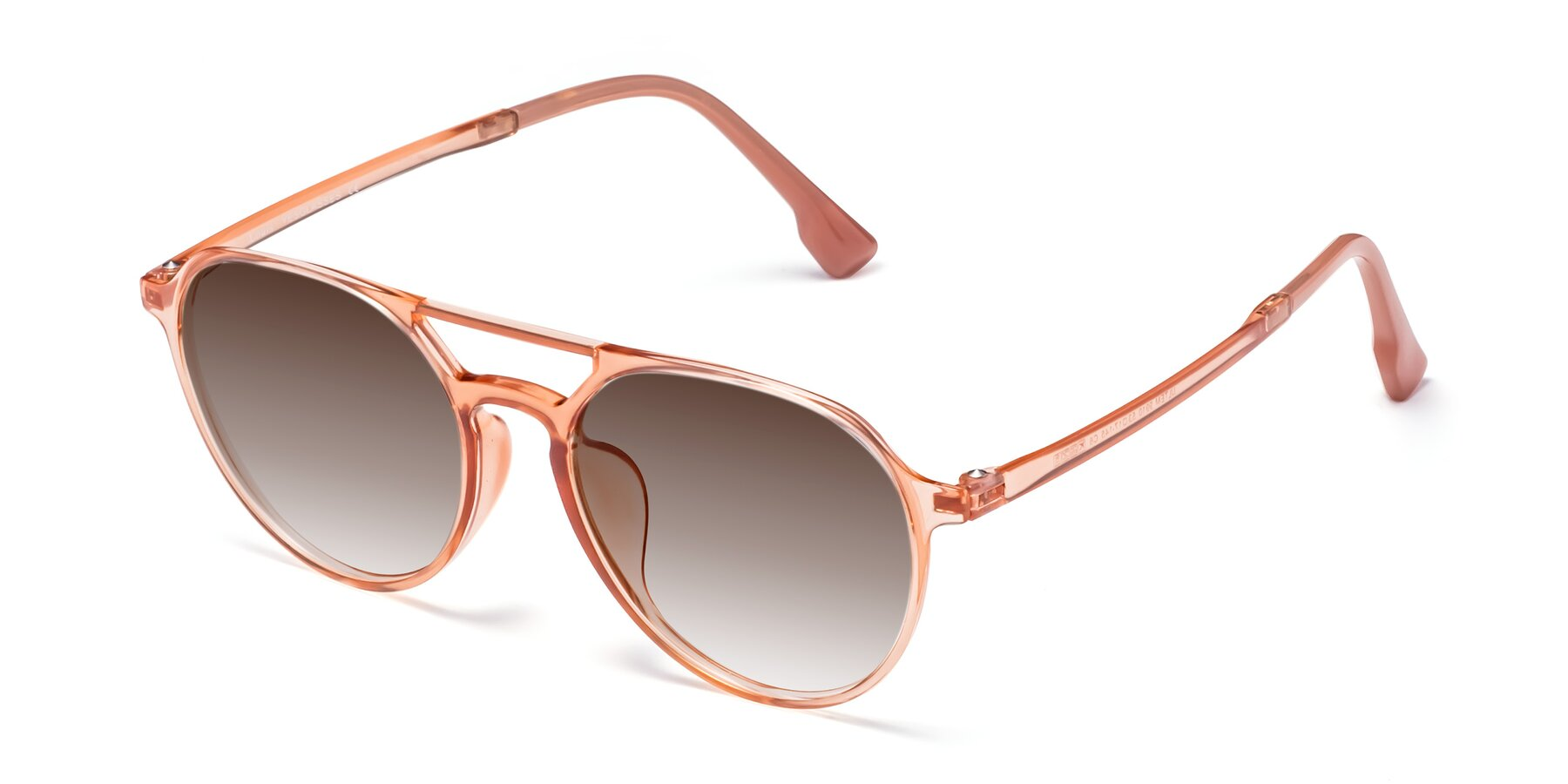 Angle of Louis in Coral with Brown Gradient Lenses
