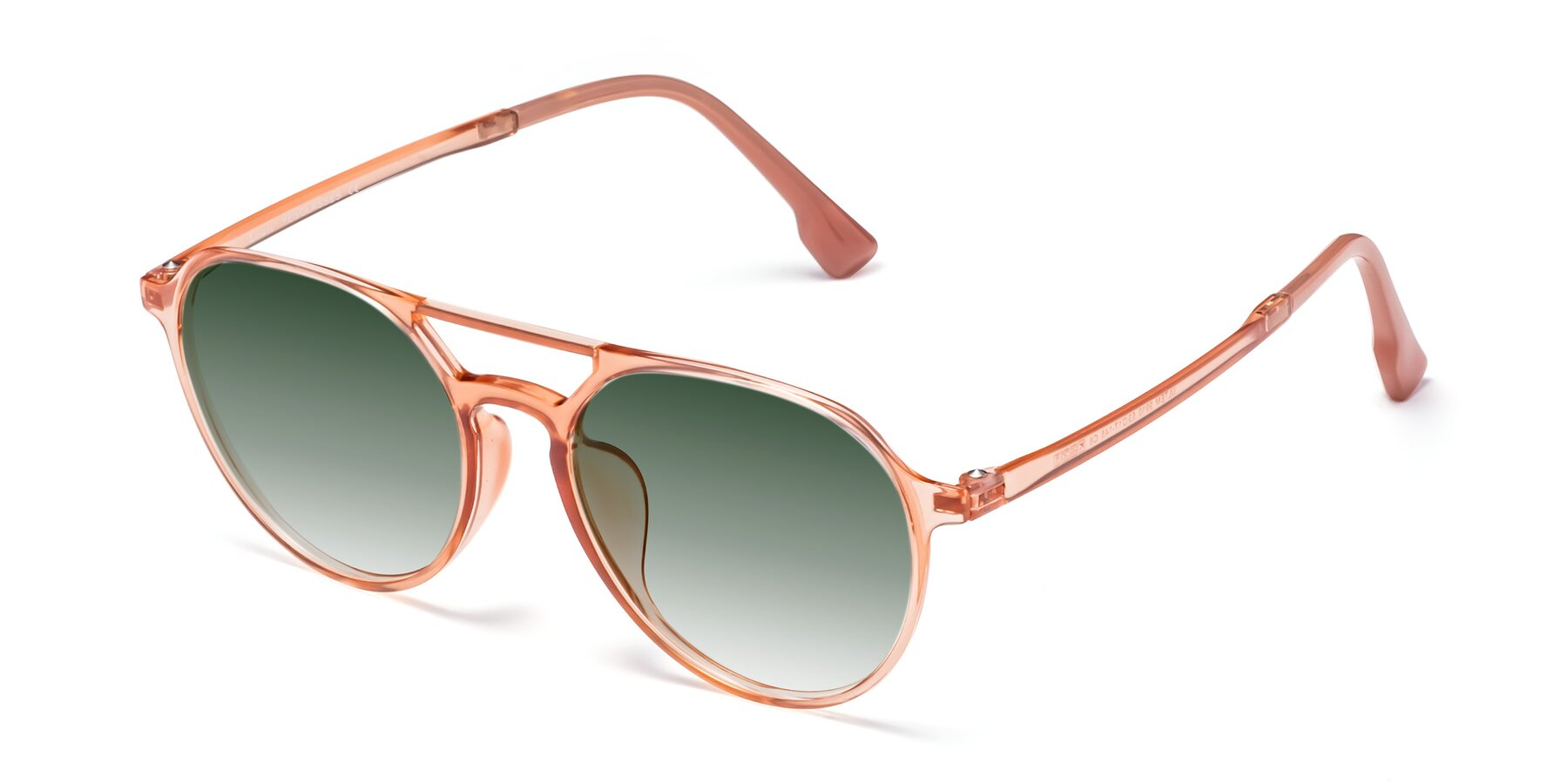 Angle of Louis in Coral with Green Gradient Lenses