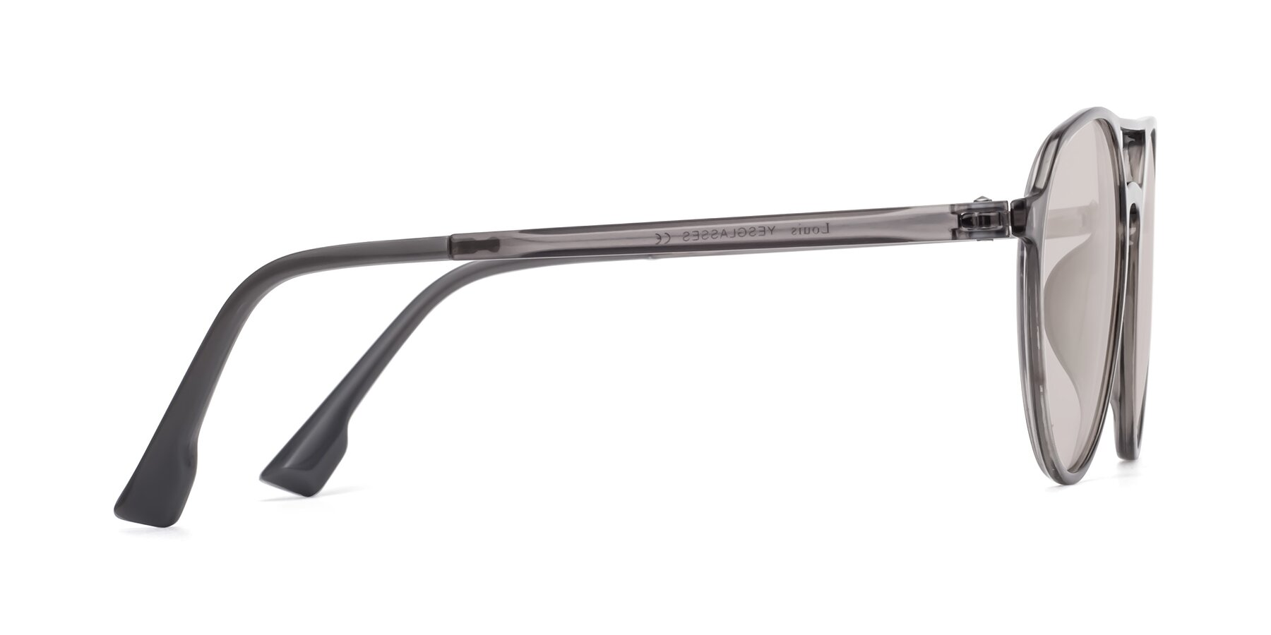 Side of Louis in Gray with Light Brown Tinted Lenses