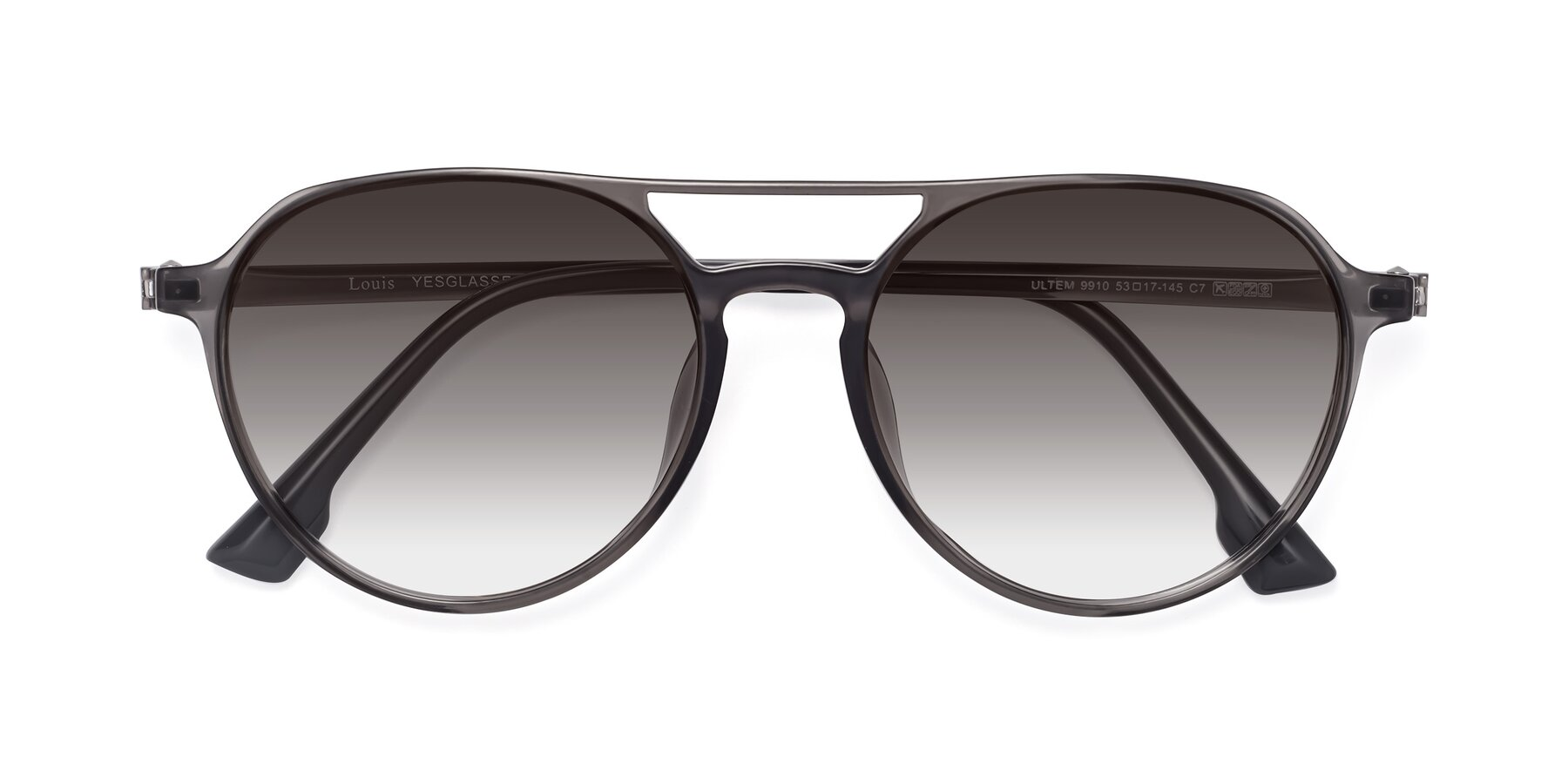 Folded Front of Louis in Gray with Gray Gradient Lenses