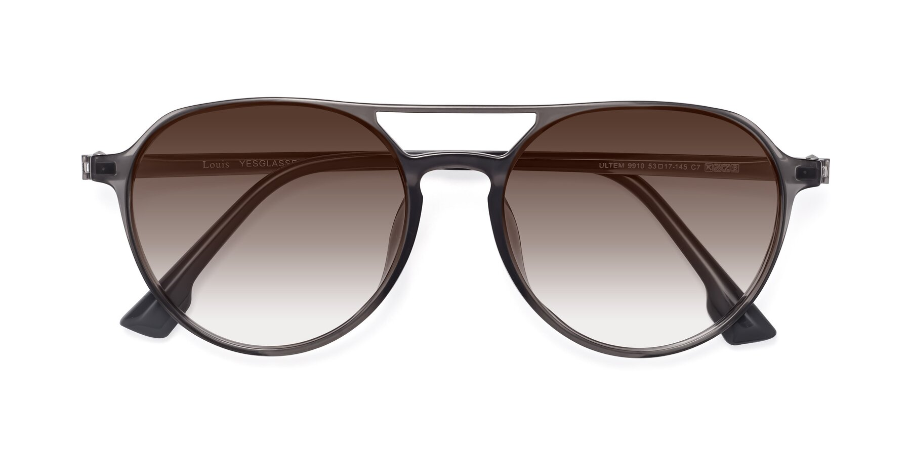 Folded Front of Louis in Gray with Brown Gradient Lenses