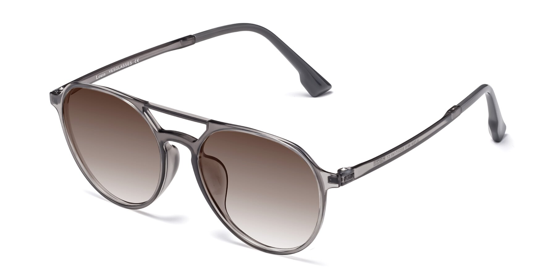 Angle of Louis in Gray with Brown Gradient Lenses