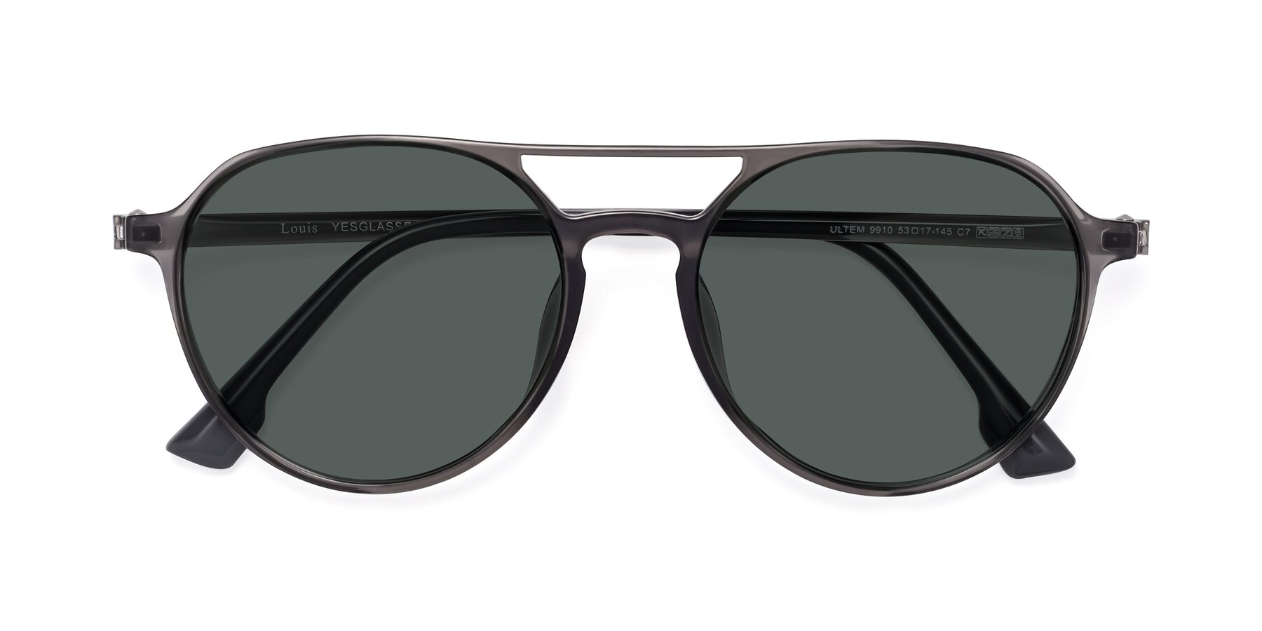 Folded Front of Louis in Gray with Gray Polarized Lenses