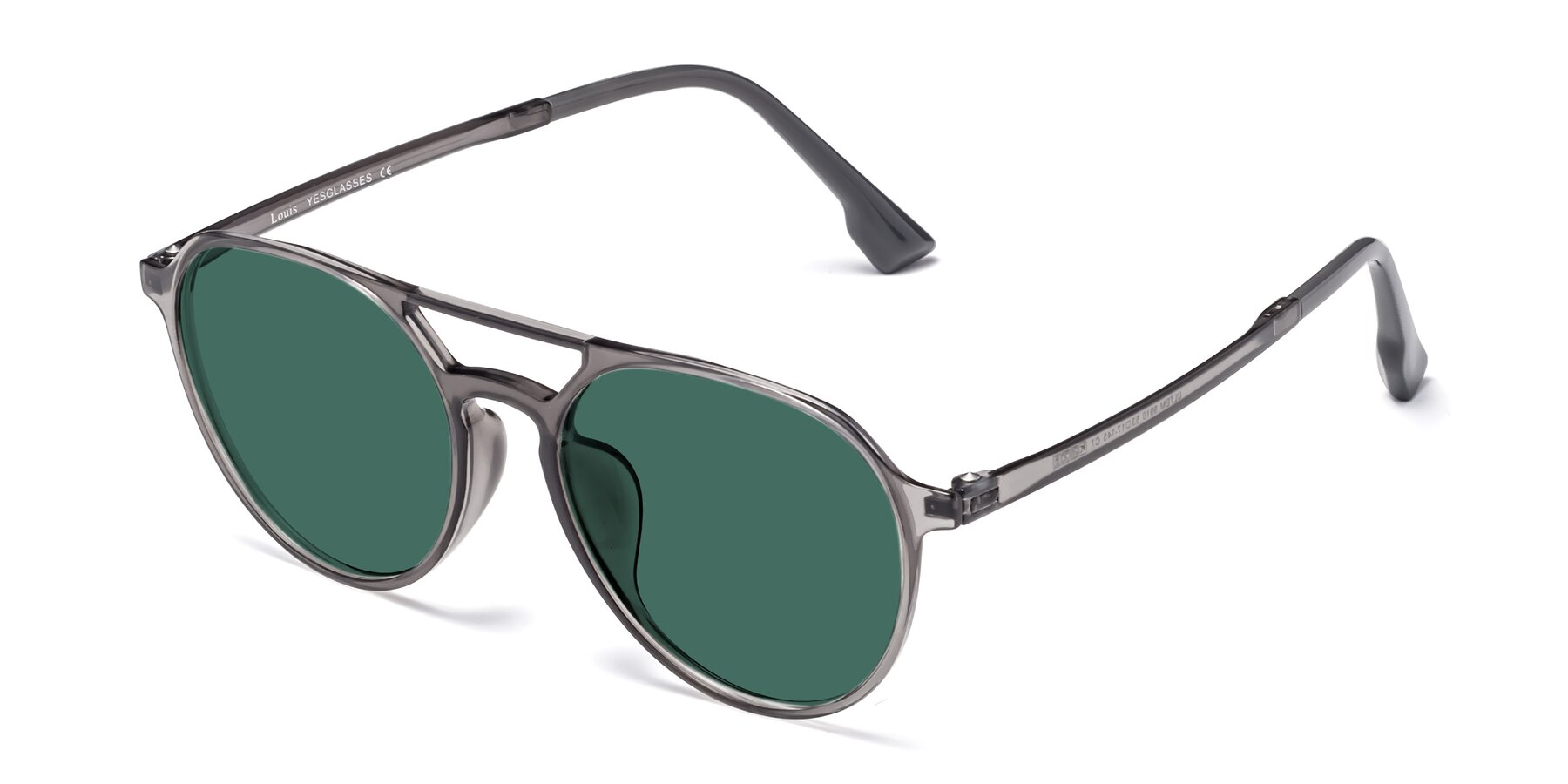 Angle of Louis in Gray with Green Polarized Lenses