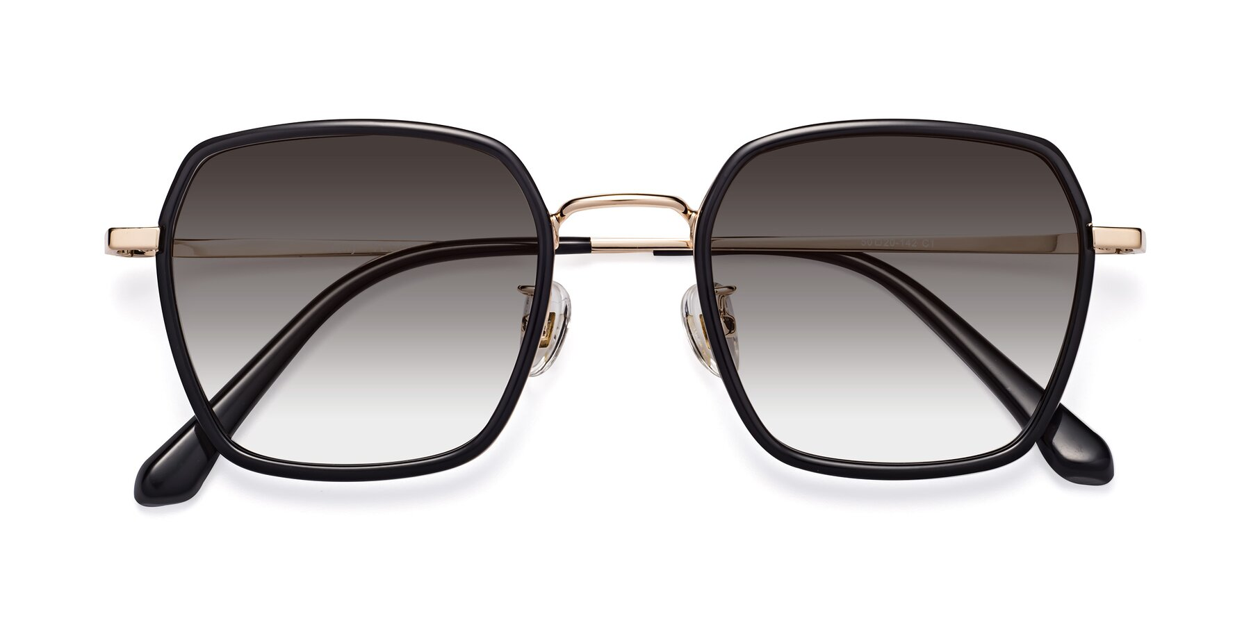 Folded Front of Kelly in Black-Gold with Gray Gradient Lenses