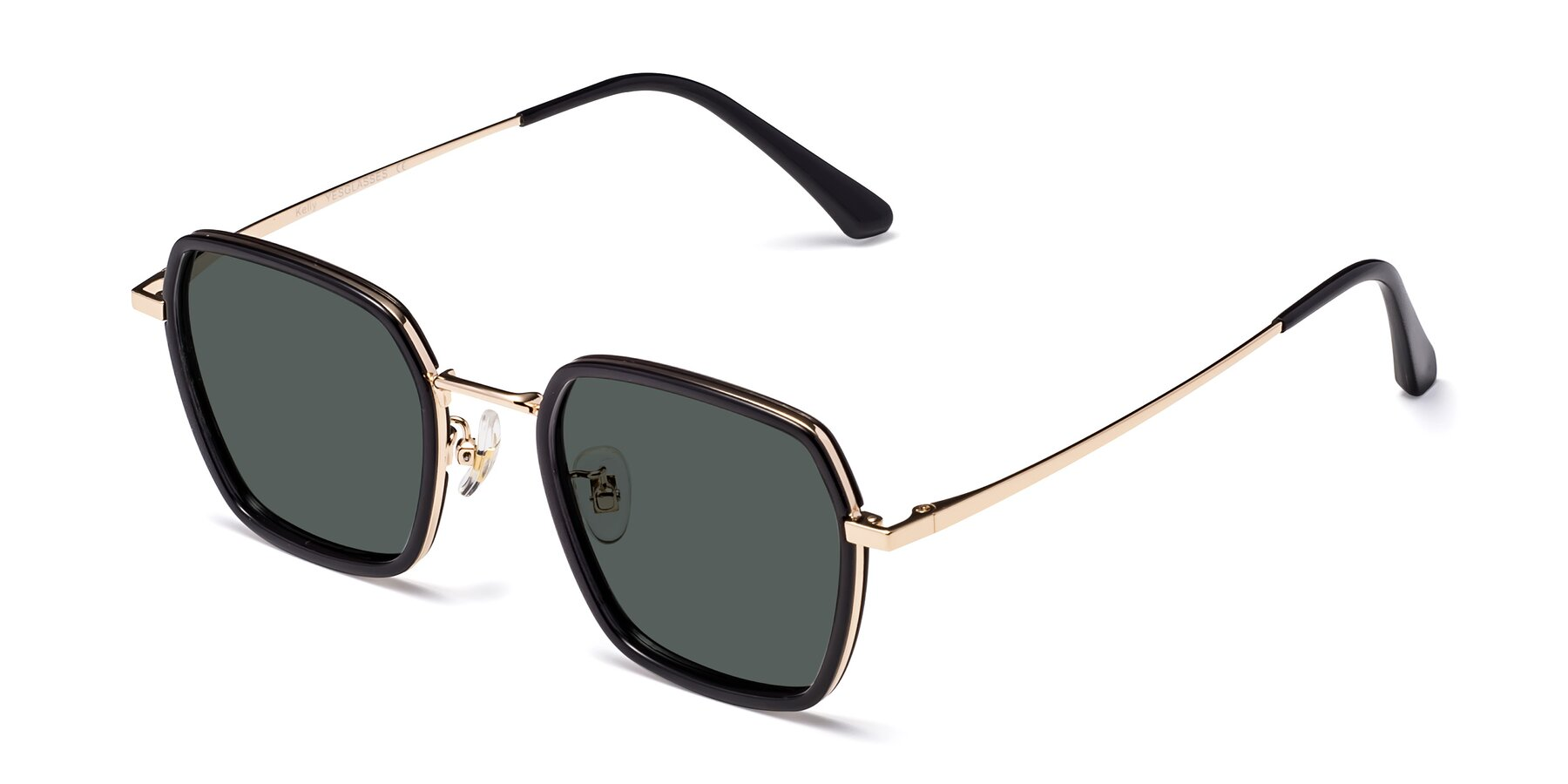 Angle of Kelly in Black-Gold with Gray Polarized Lenses