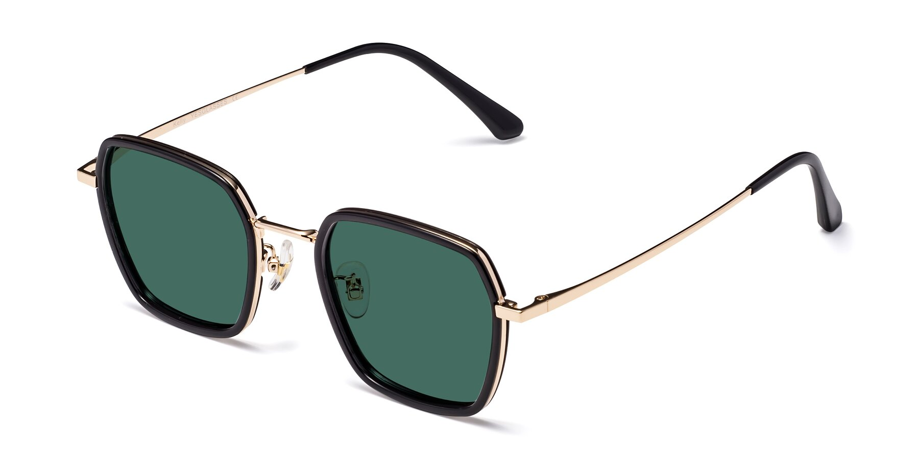 Angle of Kelly in Black-Gold with Green Polarized Lenses