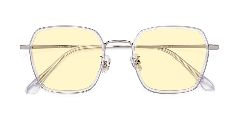 Kelly - Clear / Silver Tinted Sunglasses