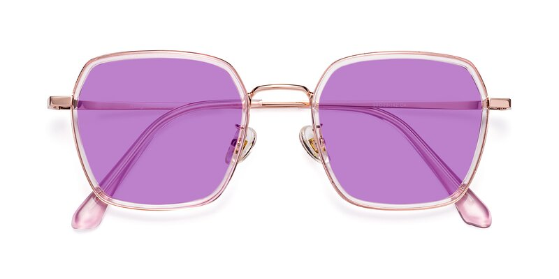 Kelly - Pink / Rose Gold Tinted Sunglasses