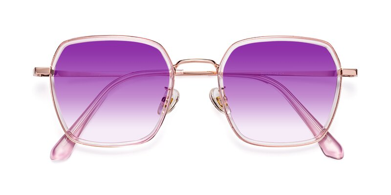 Kelly - Pink / Rose Gold Gradient Sunglasses