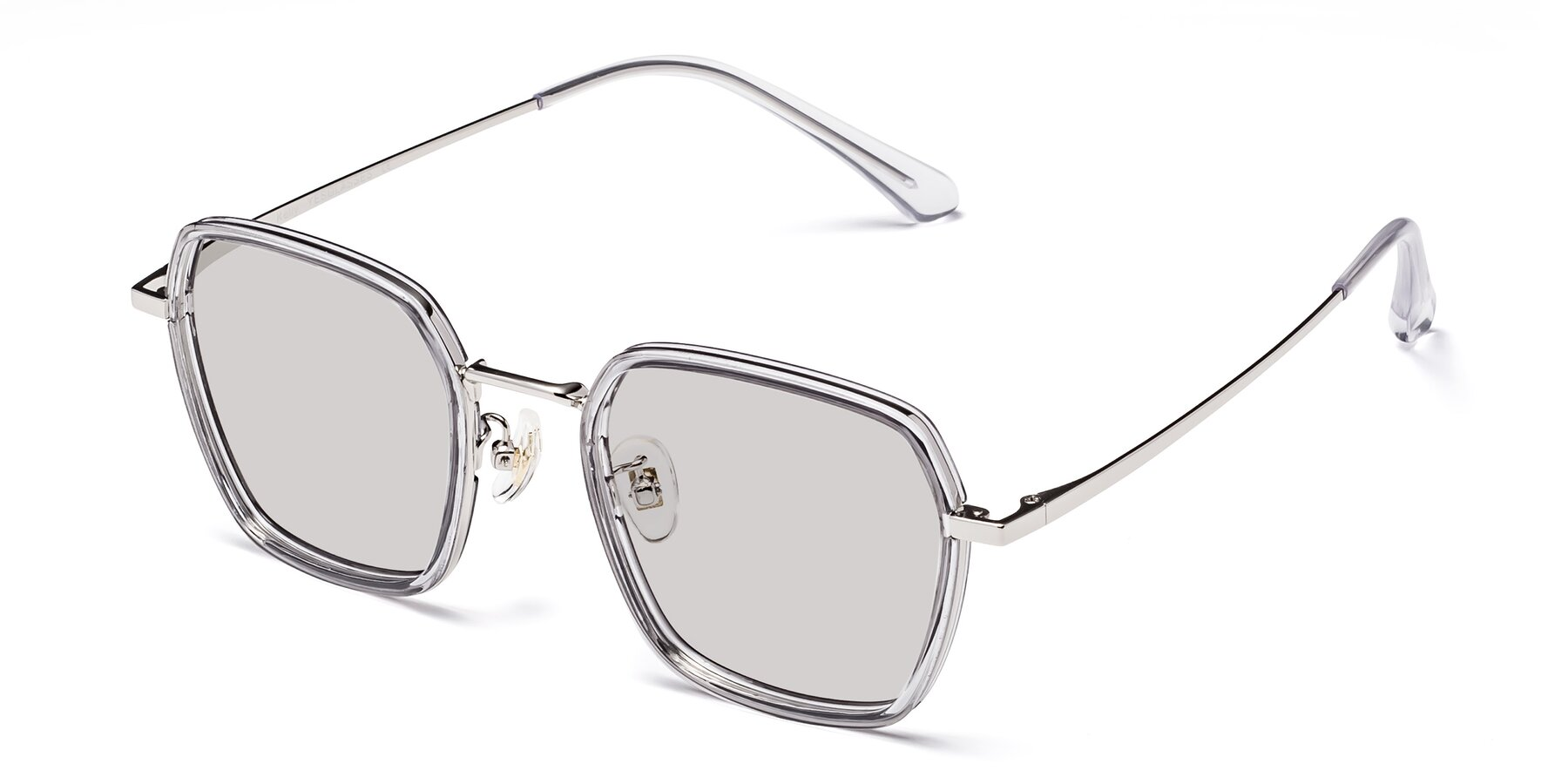 Angle of Kelly in Light Gray-Silver with Light Gray Tinted Lenses