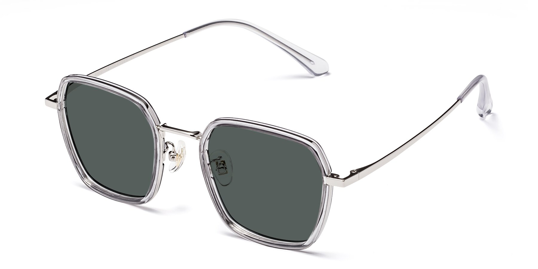 Angle of Kelly in Light Gray-Silver with Gray Polarized Lenses