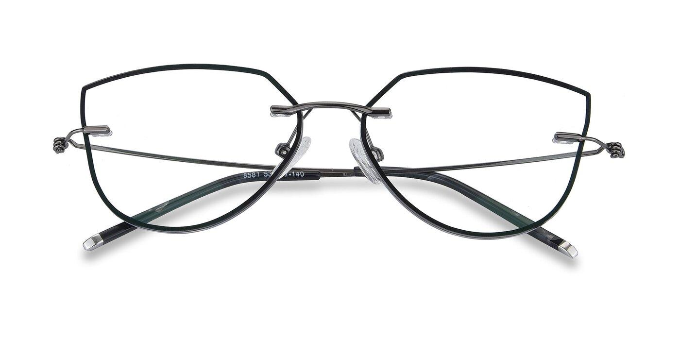Y7001 - Black / Gun Eyeglasses