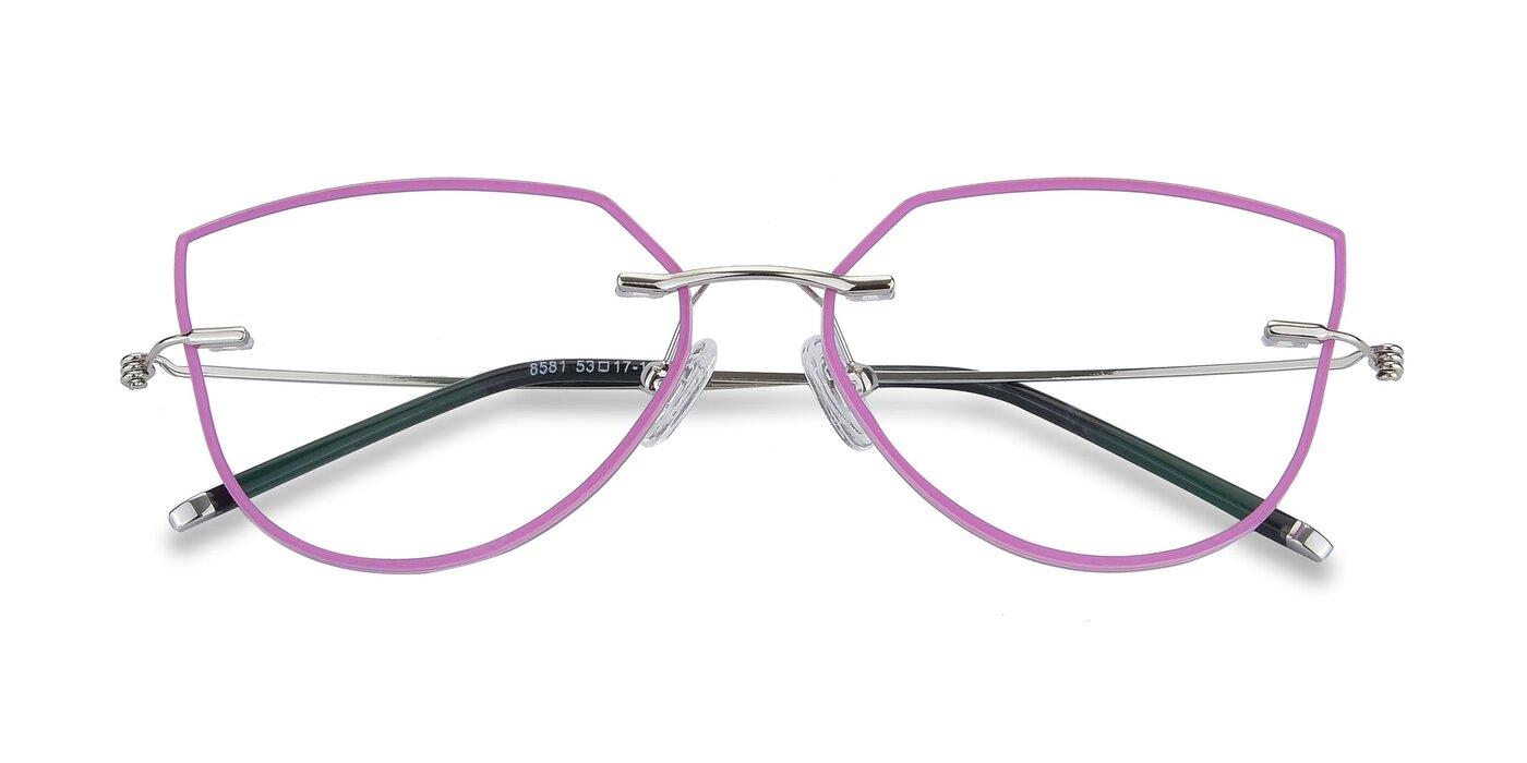 Y7001 - Pink / Silver Eyeglasses
