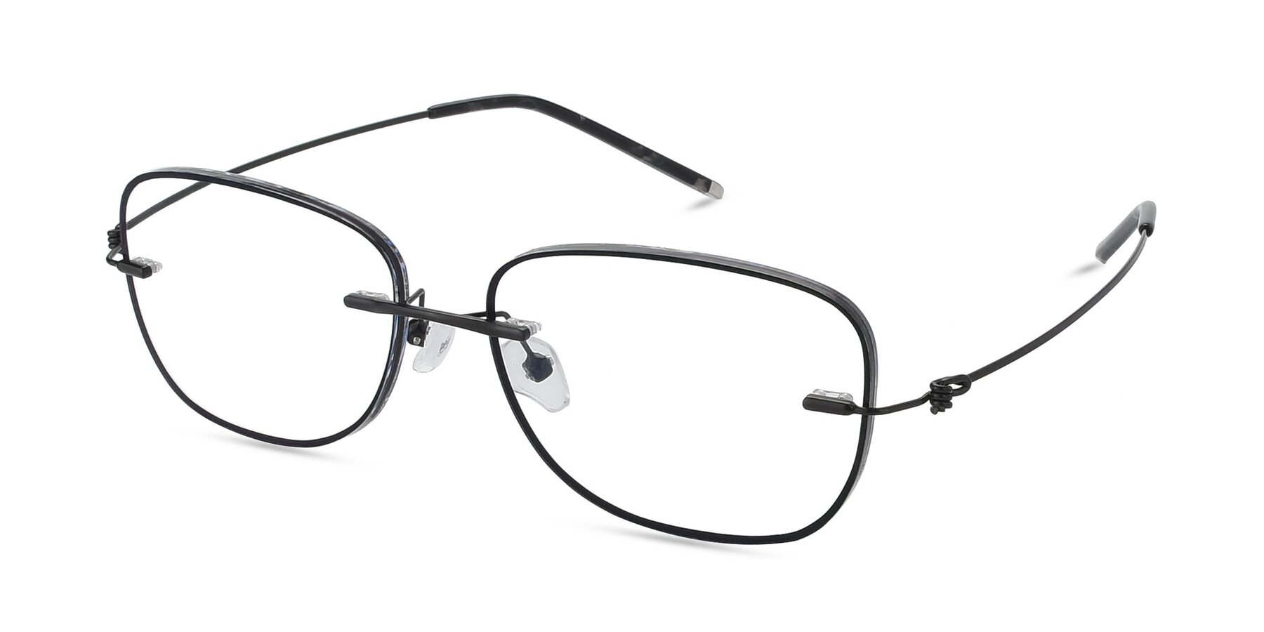 Angle of Y7002 in Black-Gun with Clear Blue Light Blocking Lenses