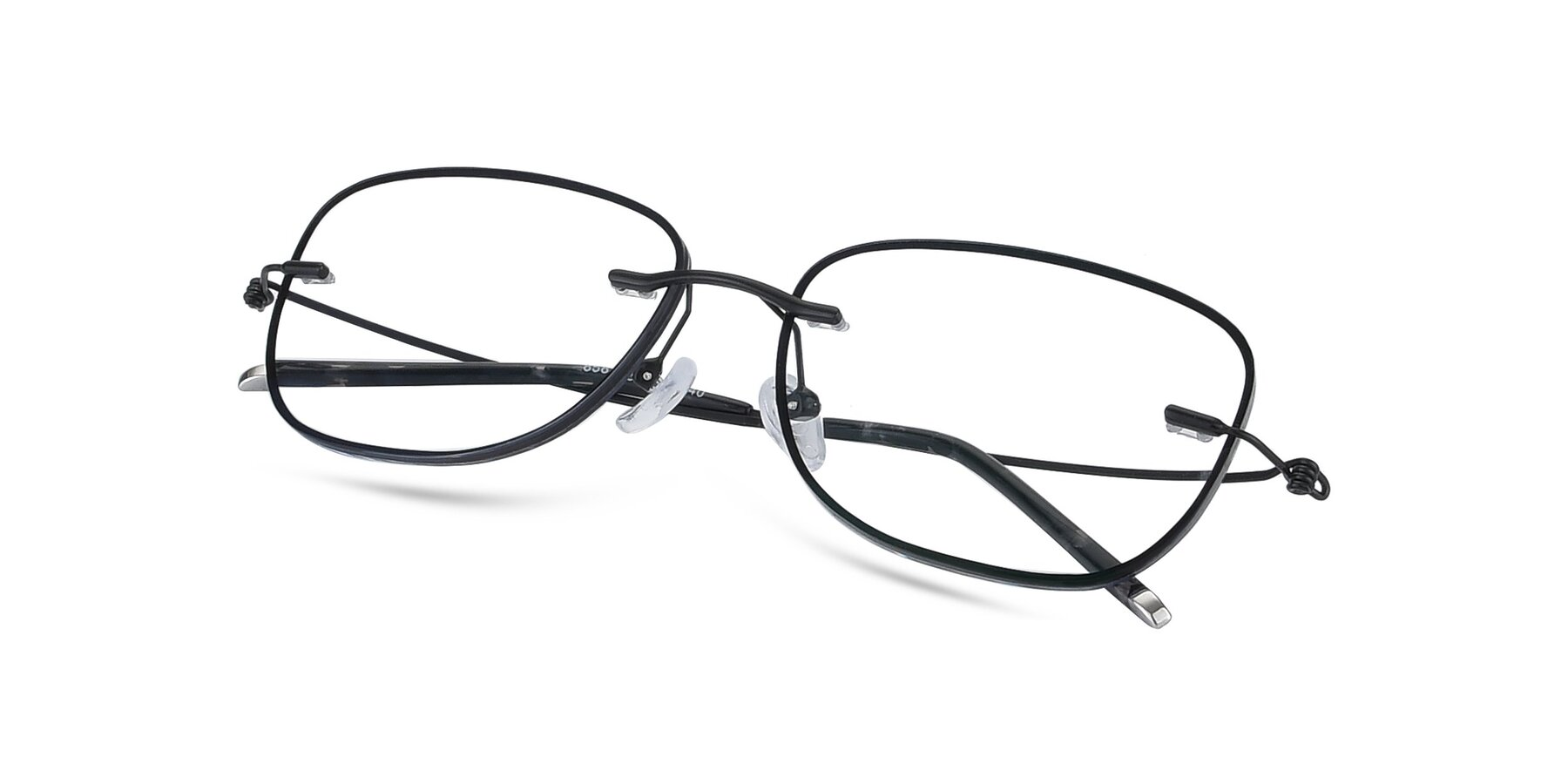 View of Y7002 in Black-Gun with Clear Blue Light Blocking Lenses