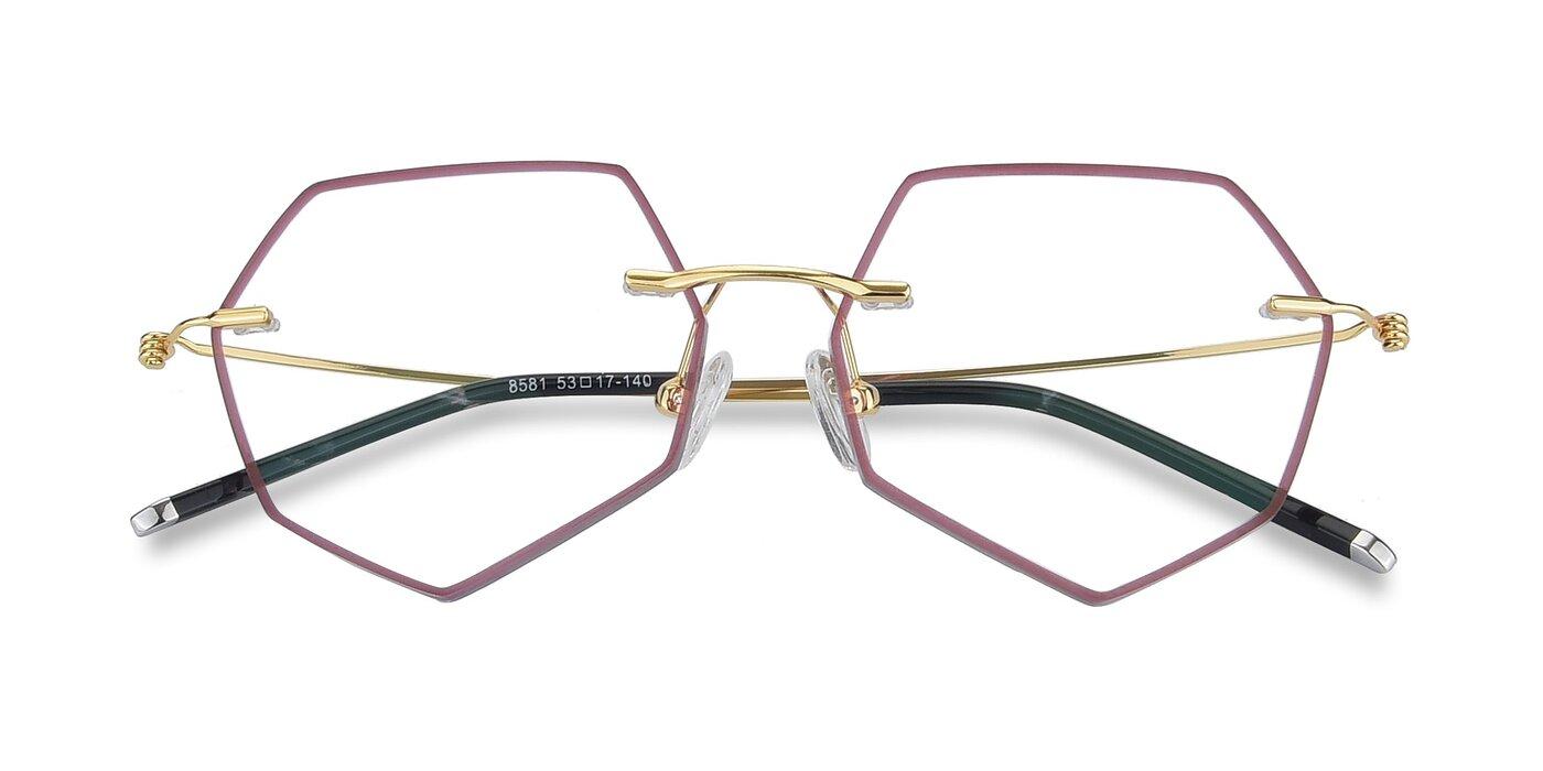 Y7003 - Wine / Gold Eyeglasses